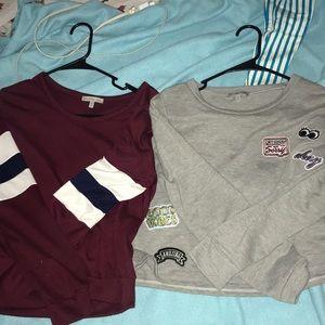 2 sweatshirts charlotte russe NEED TO SELL TONIGHT